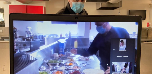 Kevin Campbell goes virtual in the Leongatha kitchen