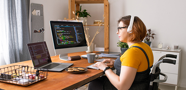 coder working from home